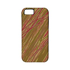 Brown elegant pattern Apple iPhone 5 Classic Hardshell Case (PC+Silicone)