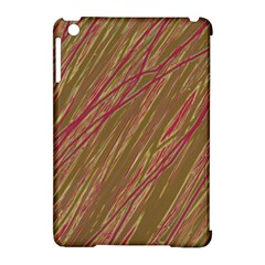 Brown elegant pattern Apple iPad Mini Hardshell Case (Compatible with Smart Cover)