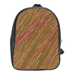 Brown elegant pattern School Bags (XL)
