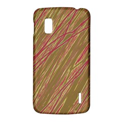 Brown elegant pattern LG Nexus 4