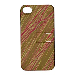 Brown elegant pattern Apple iPhone 4/4S Hardshell Case with Stand