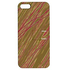 Brown elegant pattern Apple iPhone 5 Hardshell Case with Stand