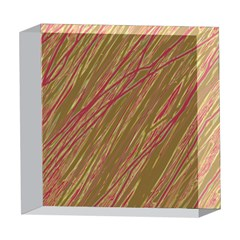 Brown elegant pattern 5  x 5  Acrylic Photo Blocks