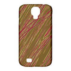 Brown elegant pattern Samsung Galaxy S4 Classic Hardshell Case (PC+Silicone)