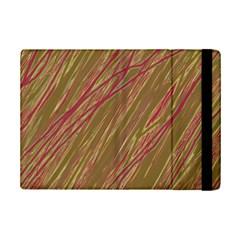 Brown elegant pattern iPad Mini 2 Flip Cases