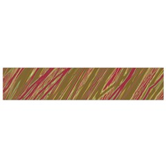 Brown elegant pattern Flano Scarf (Small)