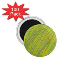 Green and yellow Van Gogh pattern 1.75  Magnets (100 pack)