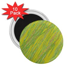 Green and yellow Van Gogh pattern 2.25  Magnets (10 pack)