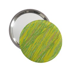 Green and yellow Van Gogh pattern 2.25  Handbag Mirrors
