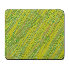 Green and yellow Van Gogh pattern Large Mousepads