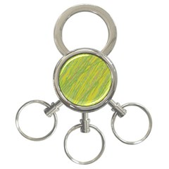 Green and yellow Van Gogh pattern 3-Ring Key Chains