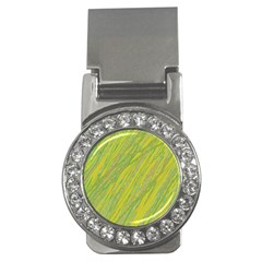 Green and yellow Van Gogh pattern Money Clips (CZ)
