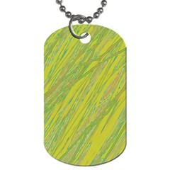 Green and yellow Van Gogh pattern Dog Tag (Two Sides)