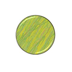 Green and yellow Van Gogh pattern Hat Clip Ball Marker (4 pack)