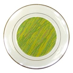 Green and yellow Van Gogh pattern Porcelain Plates