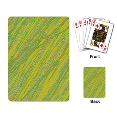 Green and yellow Van Gogh pattern Playing Card
