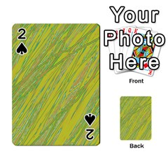 Green and yellow Van Gogh pattern Playing Cards 54 Designs