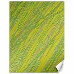 Green and yellow Van Gogh pattern Canvas 12  x 16