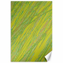 Green and yellow Van Gogh pattern Canvas 12  x 18