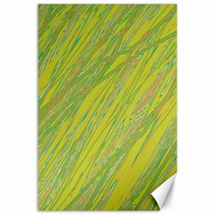 Green and yellow Van Gogh pattern Canvas 24  x 36