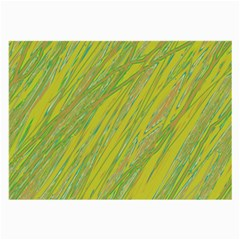Green and yellow Van Gogh pattern Large Glasses Cloth (2-Side)