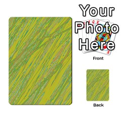 Green and yellow Van Gogh pattern Multi-purpose Cards (Rectangle)