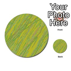 Green and yellow Van Gogh pattern Multi-purpose Cards (Round)