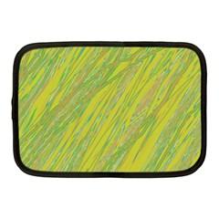 Green and yellow Van Gogh pattern Netbook Case (Medium)