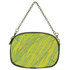 Green and yellow Van Gogh pattern Chain Purses (One Side)