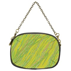 Green and yellow Van Gogh pattern Chain Purses (Two Sides)
