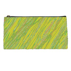 Green and yellow Van Gogh pattern Pencil Cases