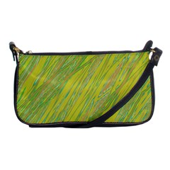 Green and yellow Van Gogh pattern Shoulder Clutch Bags