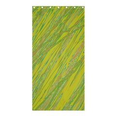 Green and yellow Van Gogh pattern Shower Curtain 36  x 72  (Stall)