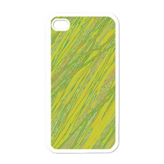 Green and yellow Van Gogh pattern Apple iPhone 4 Case (White)