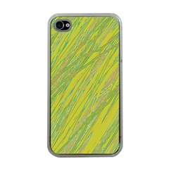 Green and yellow Van Gogh pattern Apple iPhone 4 Case (Clear)