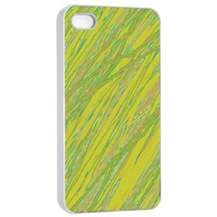 Green and yellow Van Gogh pattern Apple iPhone 4/4s Seamless Case (White)