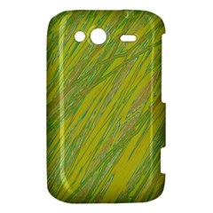 Green and yellow Van Gogh pattern HTC Wildfire S A510e Hardshell Case