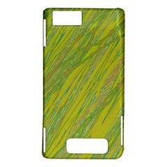 Green and yellow Van Gogh pattern Motorola DROID X2