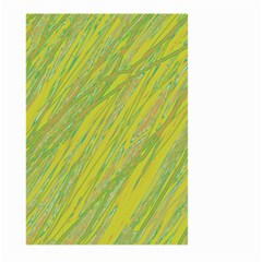 Green and yellow Van Gogh pattern Large Garden Flag (Two Sides)