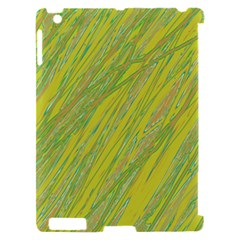 Green and yellow Van Gogh pattern Apple iPad 2 Hardshell Case (Compatible with Smart Cover)