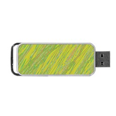 Green and yellow Van Gogh pattern Portable USB Flash (Two Sides)