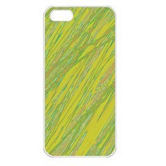 Green and yellow Van Gogh pattern Apple iPhone 5 Seamless Case (White)
