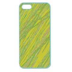 Green and yellow Van Gogh pattern Apple Seamless iPhone 5 Case (Color)