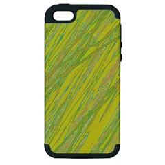 Green and yellow Van Gogh pattern Apple iPhone 5 Hardshell Case (PC+Silicone)