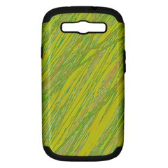 Green and yellow Van Gogh pattern Samsung Galaxy S III Hardshell Case (PC+Silicone)