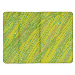 Green and yellow Van Gogh pattern Kindle Fire (1st Gen) Flip Case
