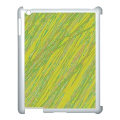Green and yellow Van Gogh pattern Apple iPad 3/4 Case (White)