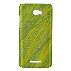 Green and yellow Van Gogh pattern HTC Butterfly X920E Hardshell Case