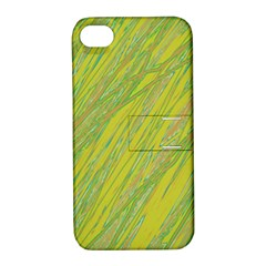 Green and yellow Van Gogh pattern Apple iPhone 4/4S Hardshell Case with Stand