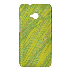 Green and yellow Van Gogh pattern HTC One M7 Hardshell Case